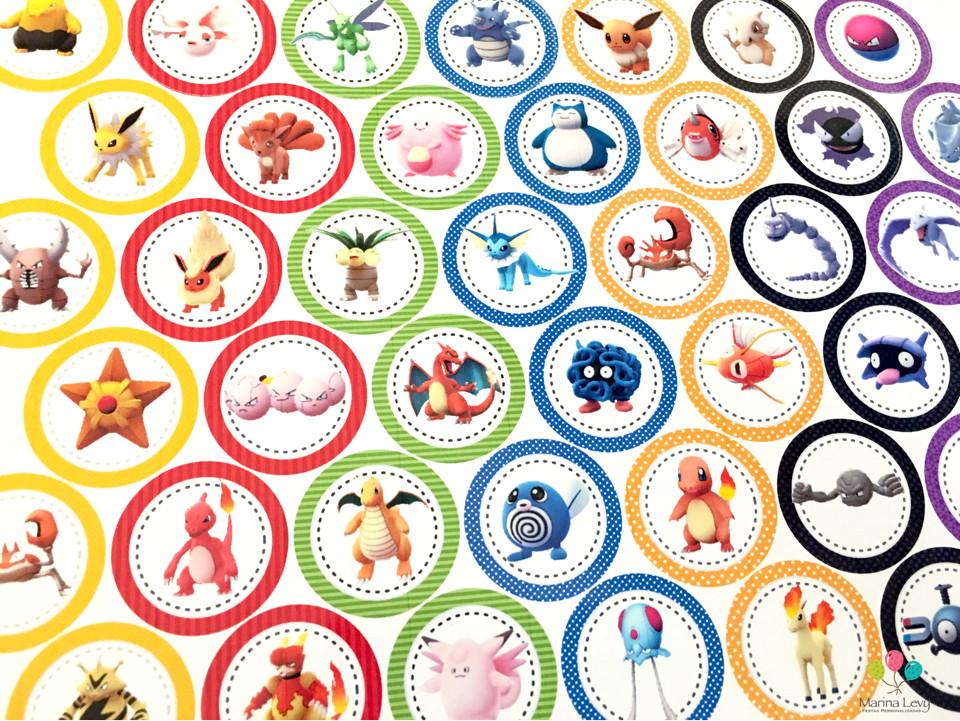 Aplique 3,5cm - Pokemon Go