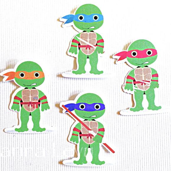 Aplique sem Fundo - Tartarugas Ninja