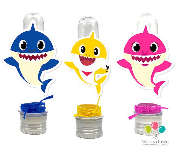 Baby Shark Monte Seu Kit Marina Levy Festas