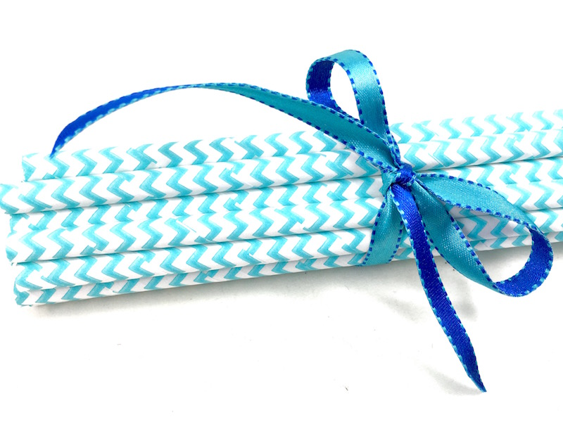 Canudo de Papel - Azul Missoni