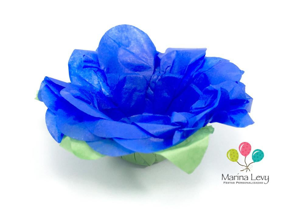 Forminha Flor 40un. - Azul Royal / Verde