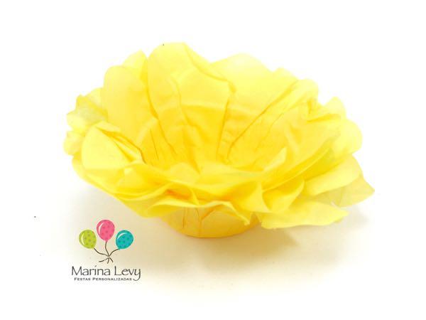 Forminha Flor 40un. - Amarelo Ouro
