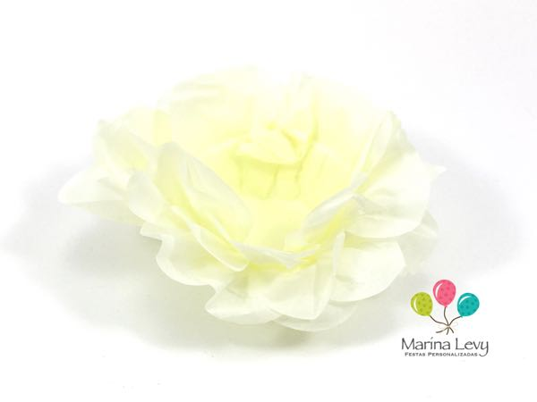 Forminha Flor 40un. - Amarelo Palha