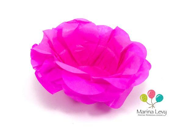 Forminha Flor 40un. - Rosa Pink