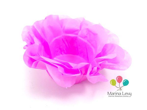 Forminha Flor 40un. - Rosa Escuro