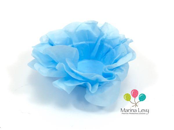 Forminha Flor 40un. - Azul Claro
