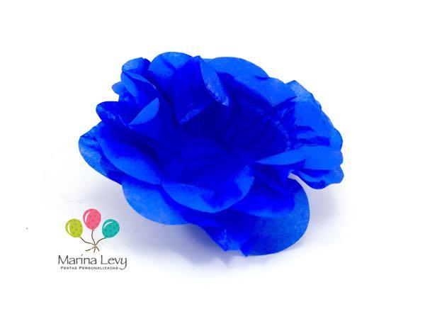 Forminha Flor 40un. - Azul Royal