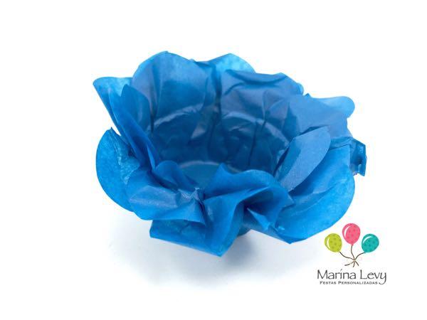 Forminha Flor 40un. - Azul Turquesa