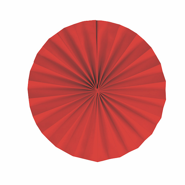 Leque Redondo - Vermelho