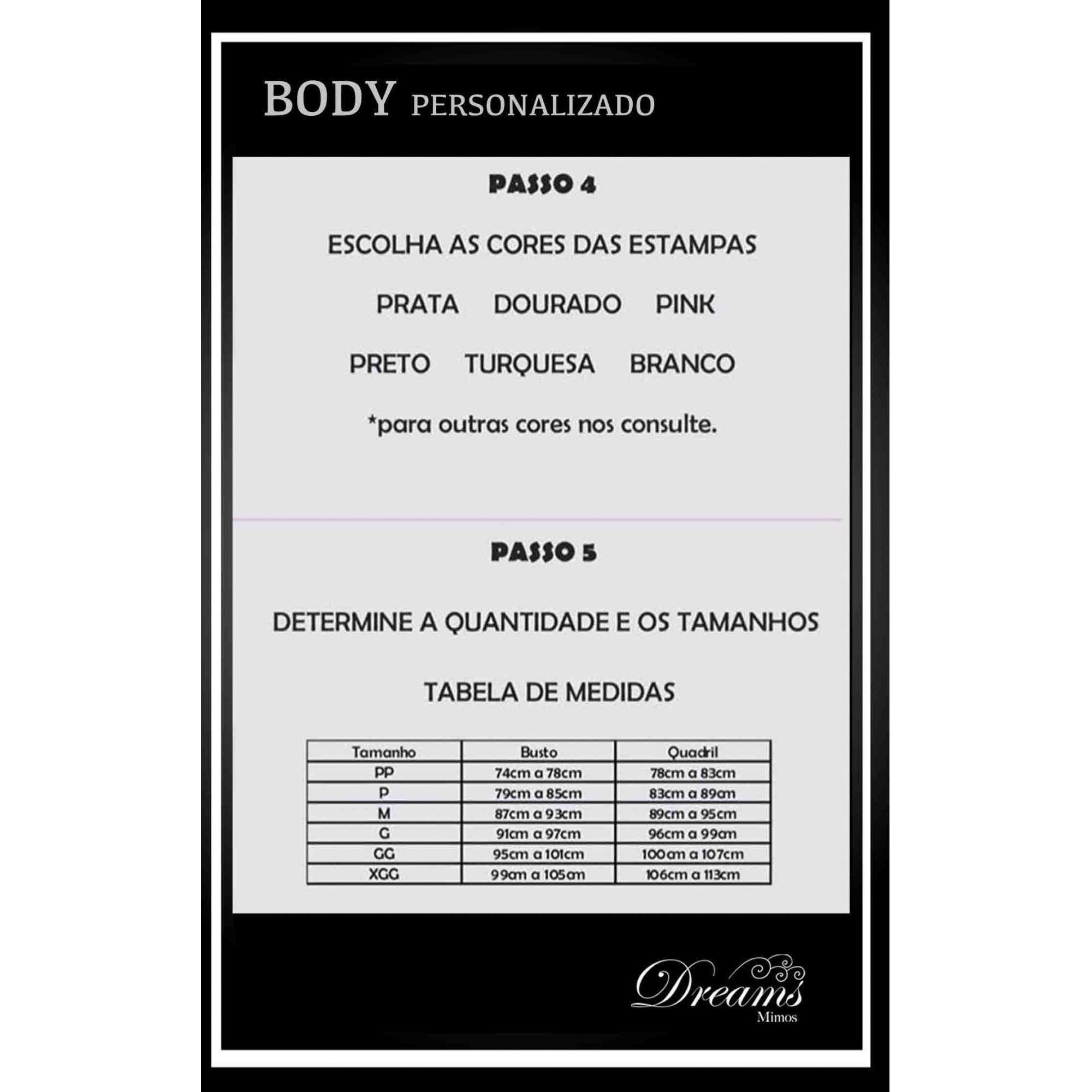 BODY / MAIÔ PERSONALIZADO - MODELO 03