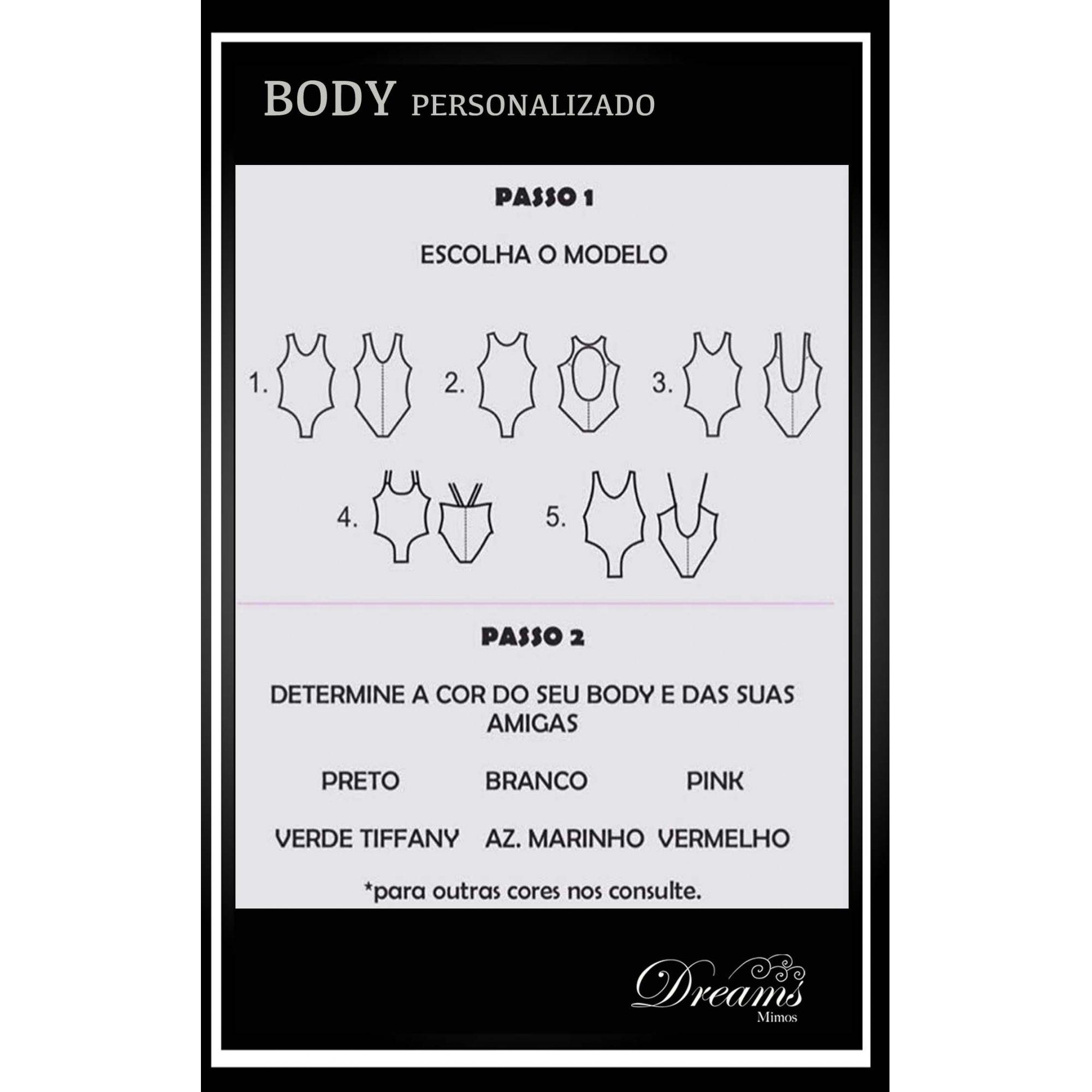 BODY / MAIÔ PERSONALIZADO - MODELO 1 ou 2