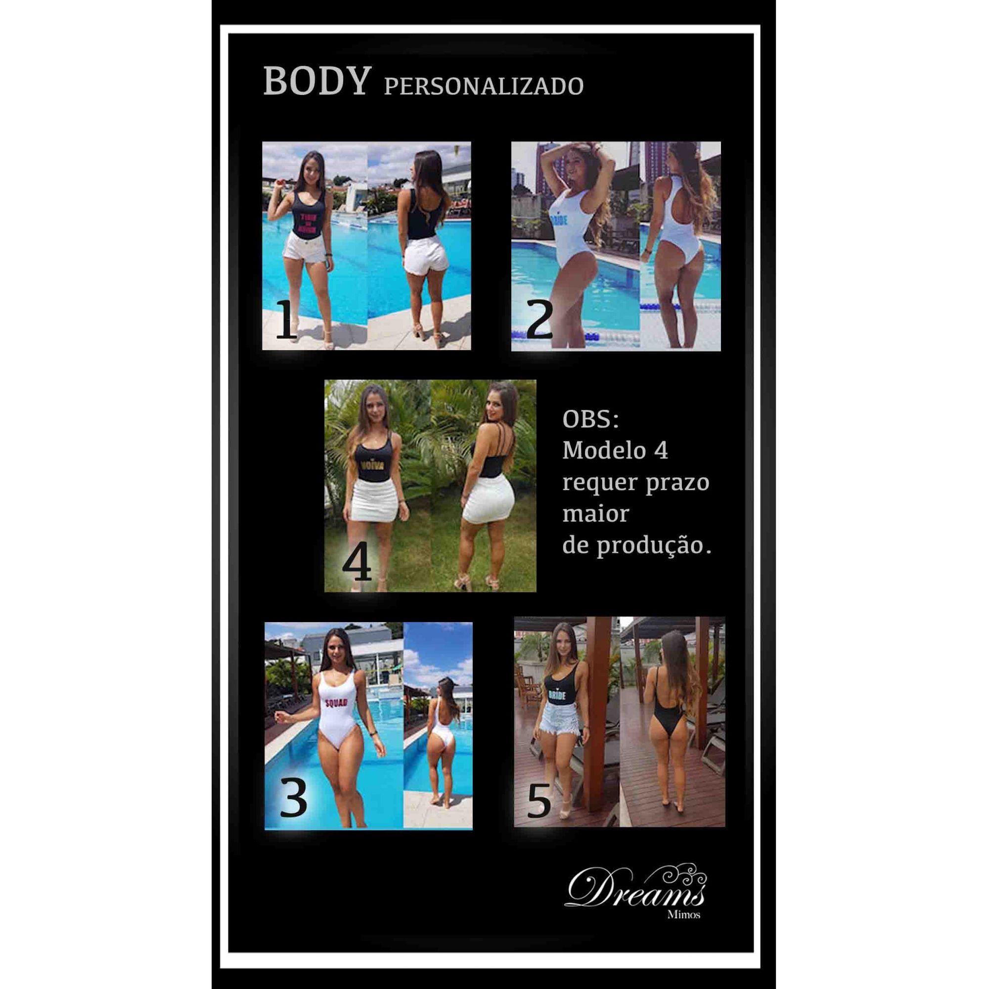 BODY / MAIÔ PERSONALIZADO - MODELOS 4 e 5