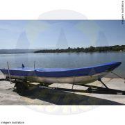 Capa Lona de Cobertura Barco Canoa de Bico até 6mts Lona Poliéster