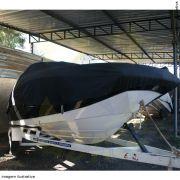 Capa Lona de Cobertura Lancha Focker 215 Lona Guarda Chuva