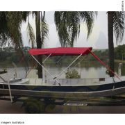 Capota Toldo Barco Aruak 600 Vinílica 3 Arcos Tubo 7/8
