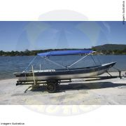 Capota Toldo Barco Calaça Flash Bass 500 Poliéster 4 Arcos Tubo 1 1/4