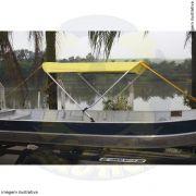 Capota Toldo Barco Karib 600 Poliéster 2 Arcos Tubo 7/8