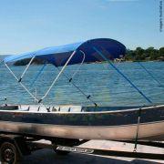 Capota Toldo Barco Squalus 500 Poliéster 3 Arcos Tubo 1 1/4