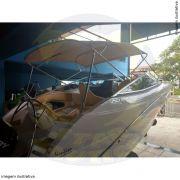 Capota Toldo Lancha Focker 215 Poliéster 4 Arcos Tubo 1 1/4