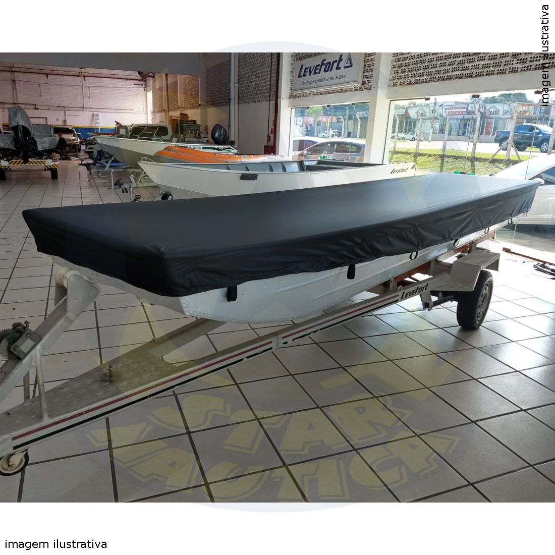 Capa Lona de Cobertura Barco Canoa Chato até 6mts Lona Poliéster