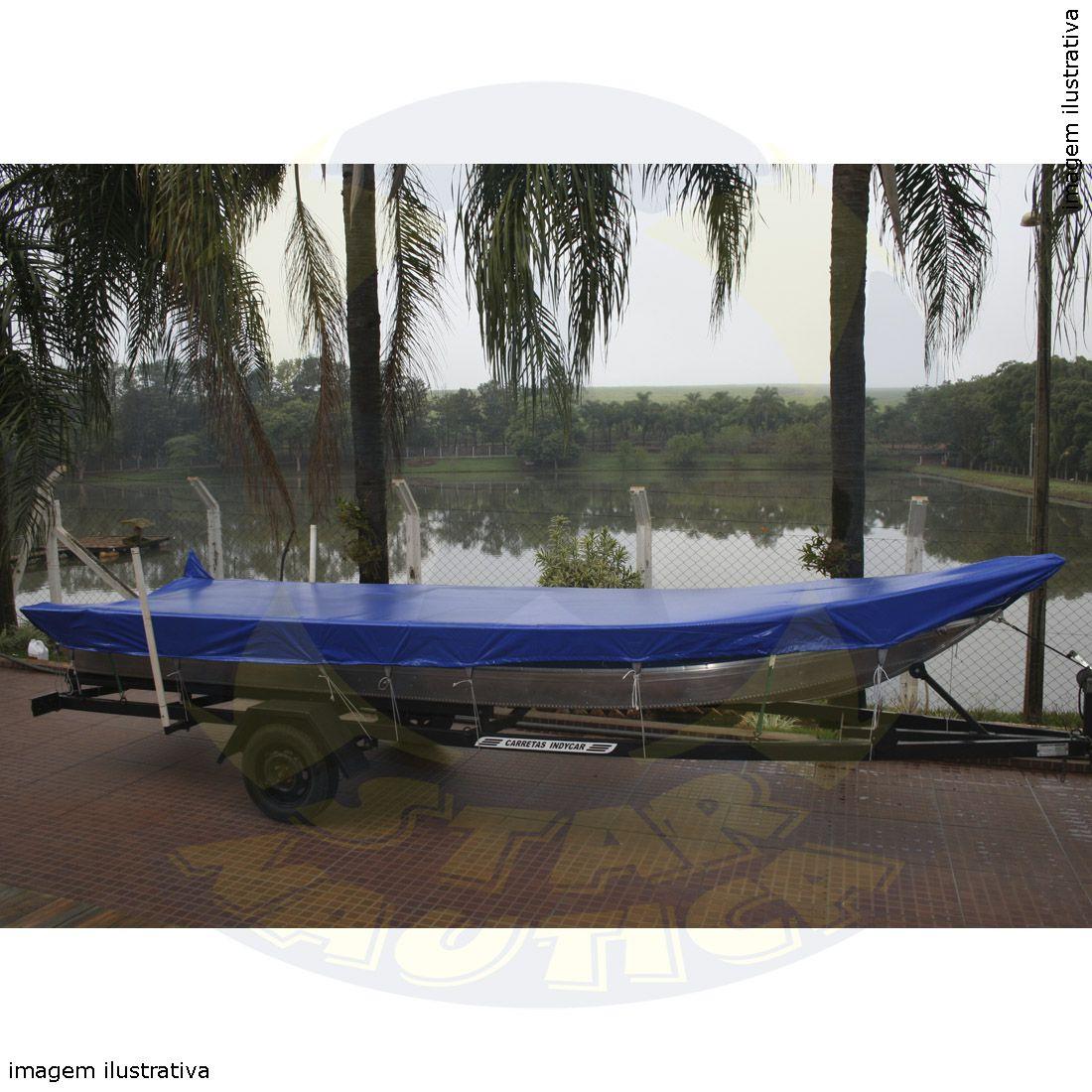 Capa Lona de Cobertura Barco Canoa de Bico até 6mts Lona Vinílica