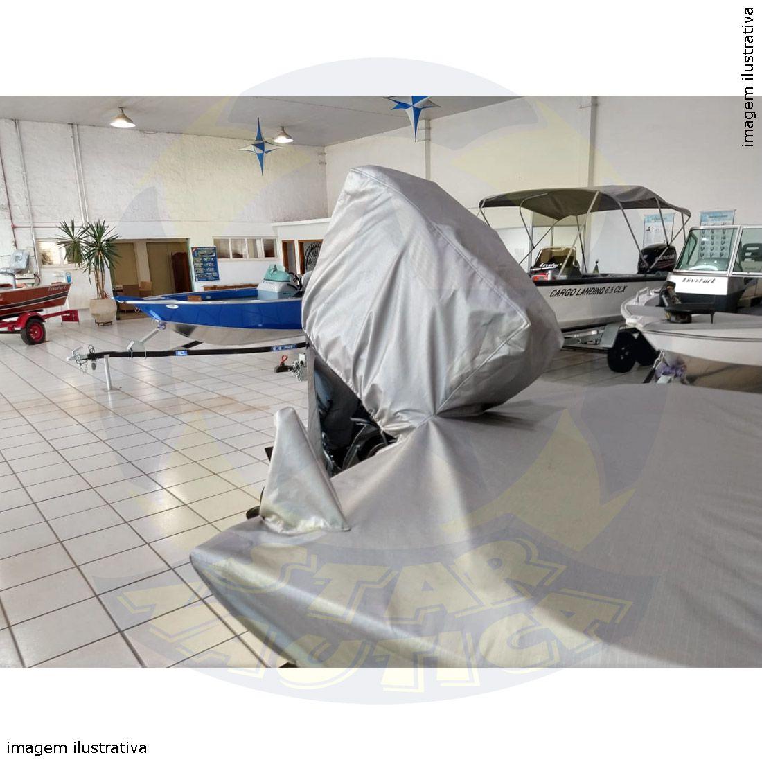 Capa Lona de Cobertura Lancha Apolus 600 Tracker 19 Pés Lona Metalizada