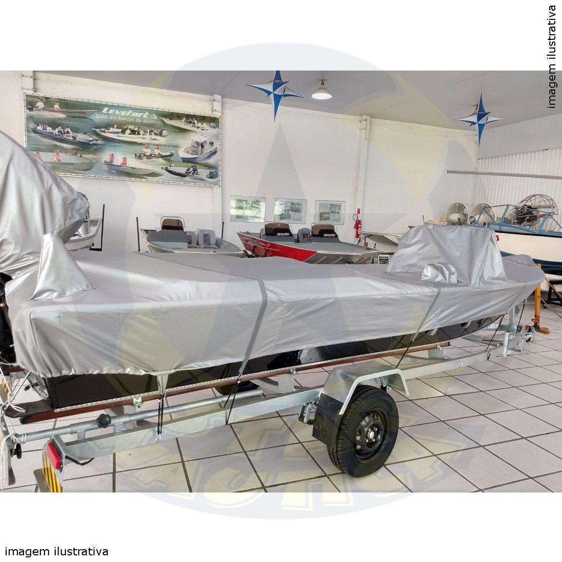 Capa Lona de Cobertura Lancha Big Fish 5014 Sport Lona Metalizada