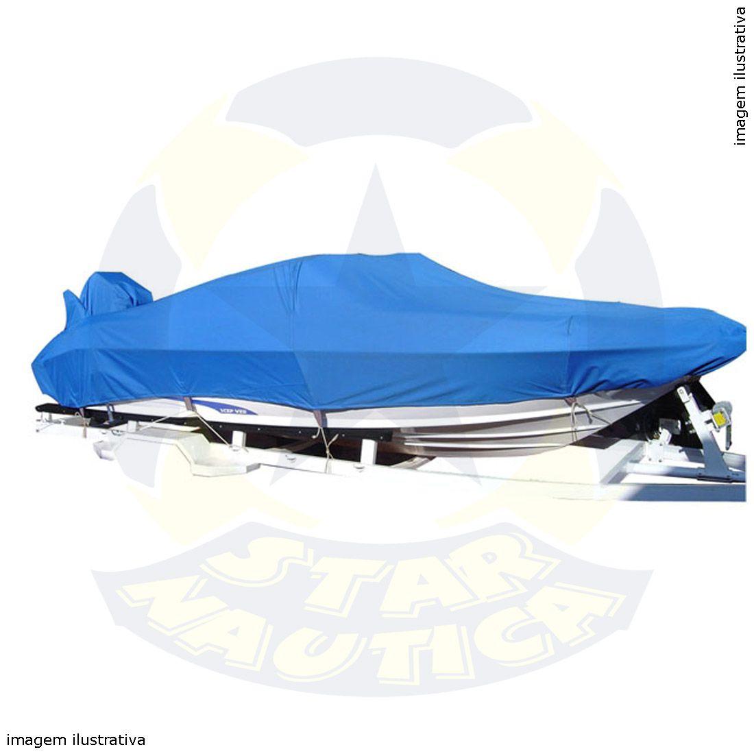 Capa Lona de Cobertura Lancha de Fibra 17 Pés Lona Poliéster