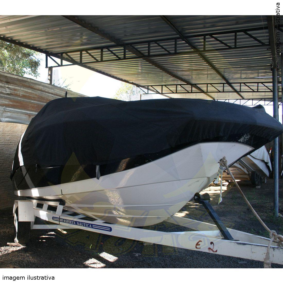 Capa Lona de Cobertura Lancha Focker 222 Lona Guarda Chuva