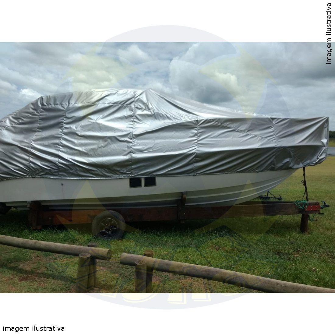 Capa Lona de Cobertura Lancha FS 230 Sirena com Targa Lona Metalizada