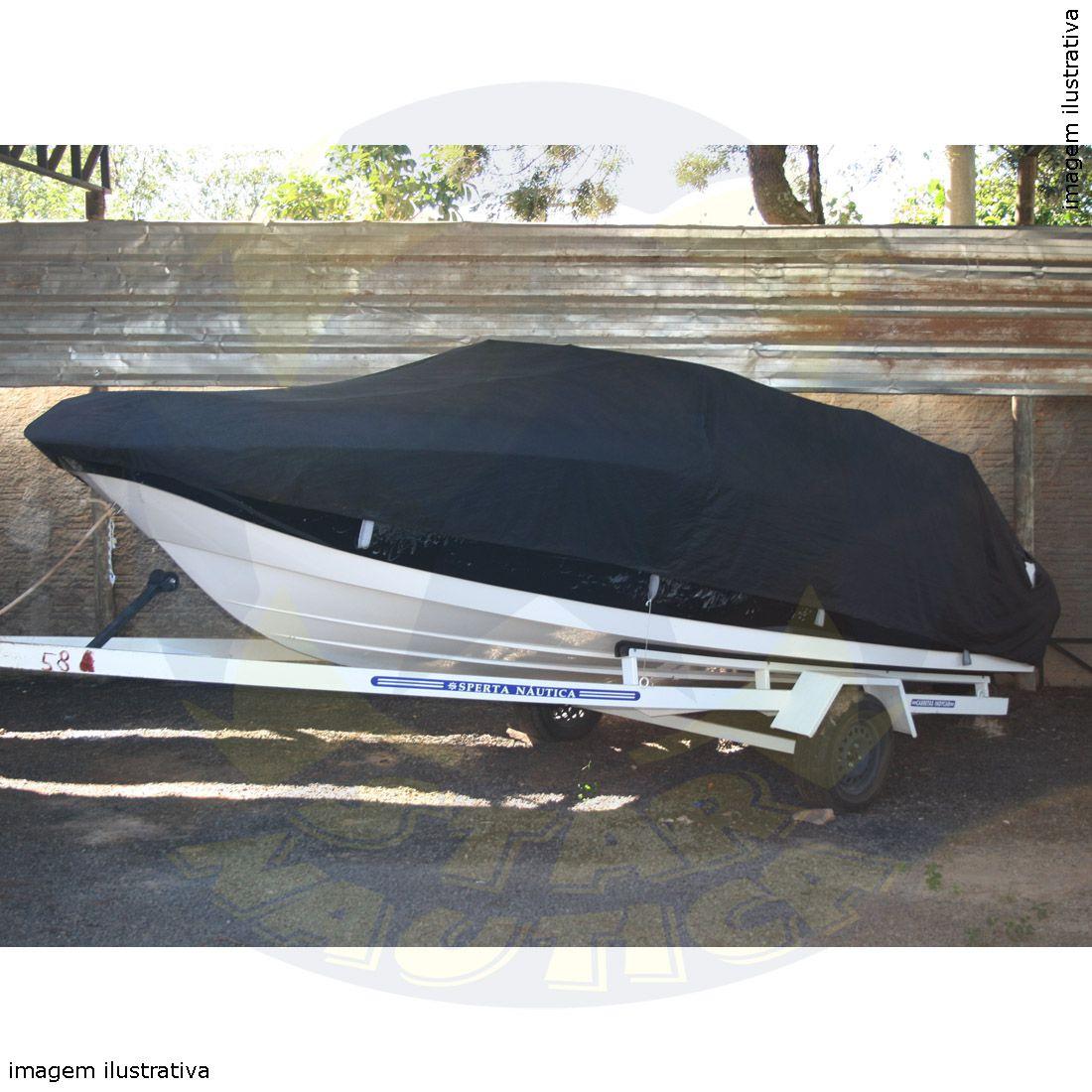 Capa Lona de Cobertura Lancha FS 230 Sirena ou Scapare Lona Poliéster