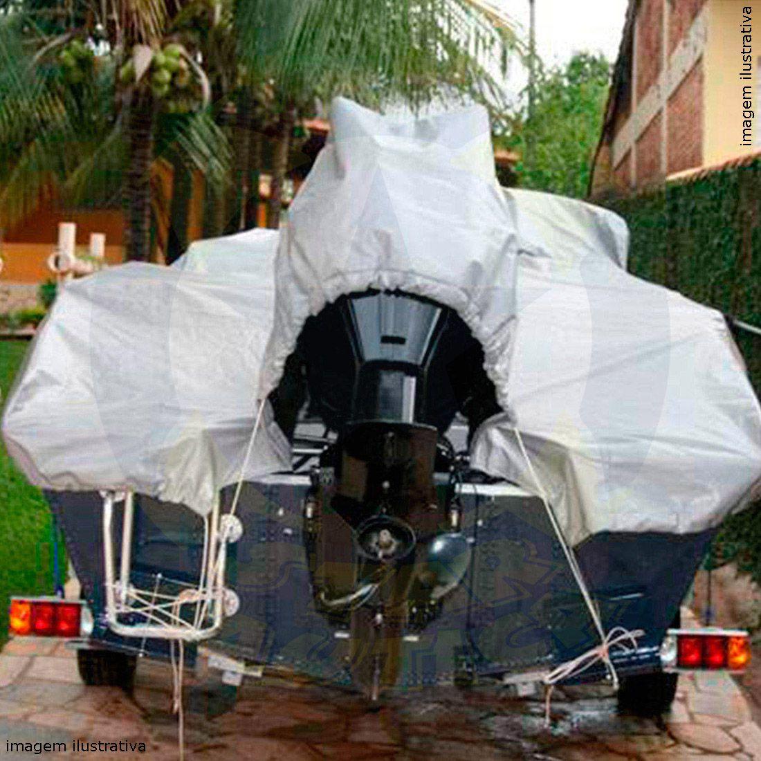 Capa Lona de Cobertura Lancha Marajó 19 Machine Lona Poliéster