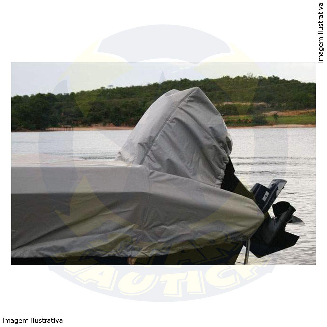 Capa Lona de Cobertura Lancha Marfim 6.0 Freestyle Lona Poliéster