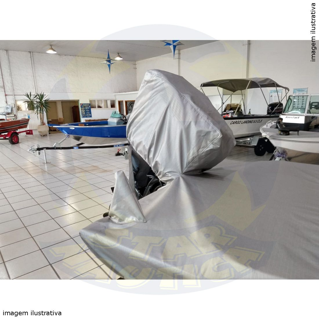 Capa Lona de Cobertura Lancha Matrix 190 Rionáutica Lona Metalizada