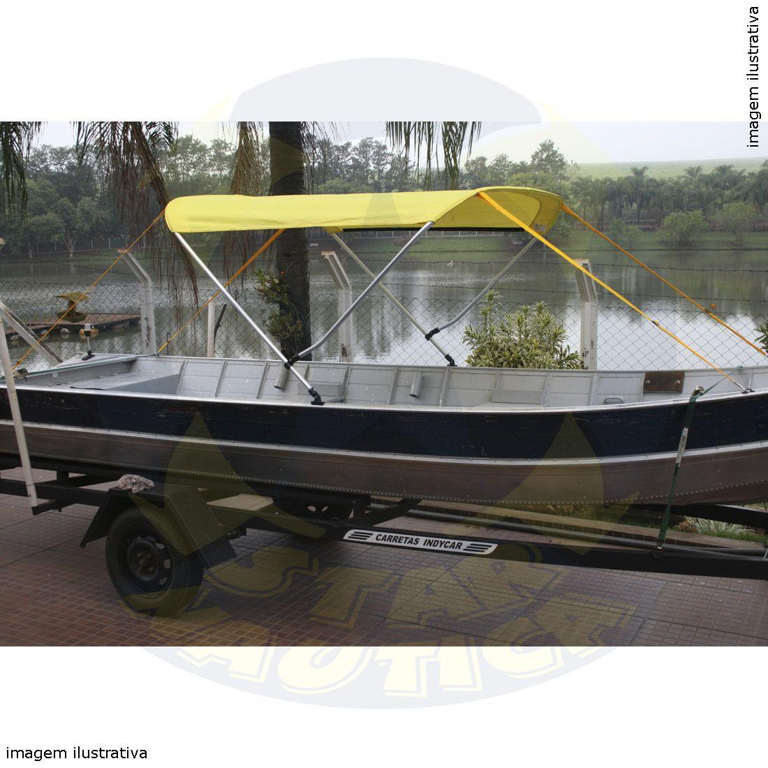 Capota Toldo Barco Apolus 500 Poliéster 2 Arcos Tubo 7/8