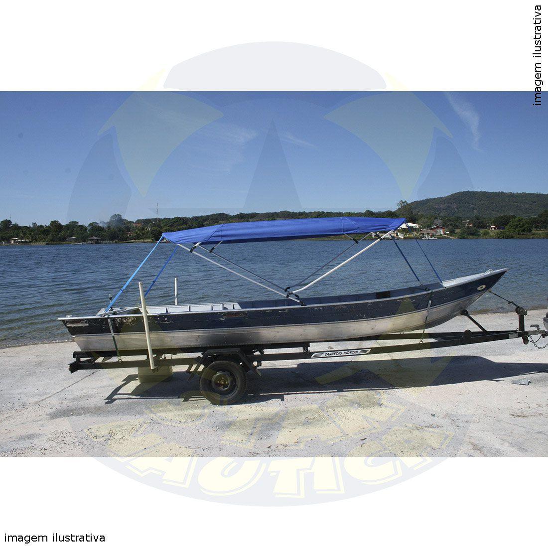 Capota Toldo Barco Apolus 600 Poliéster 4 Arcos Tubo 1 1/4