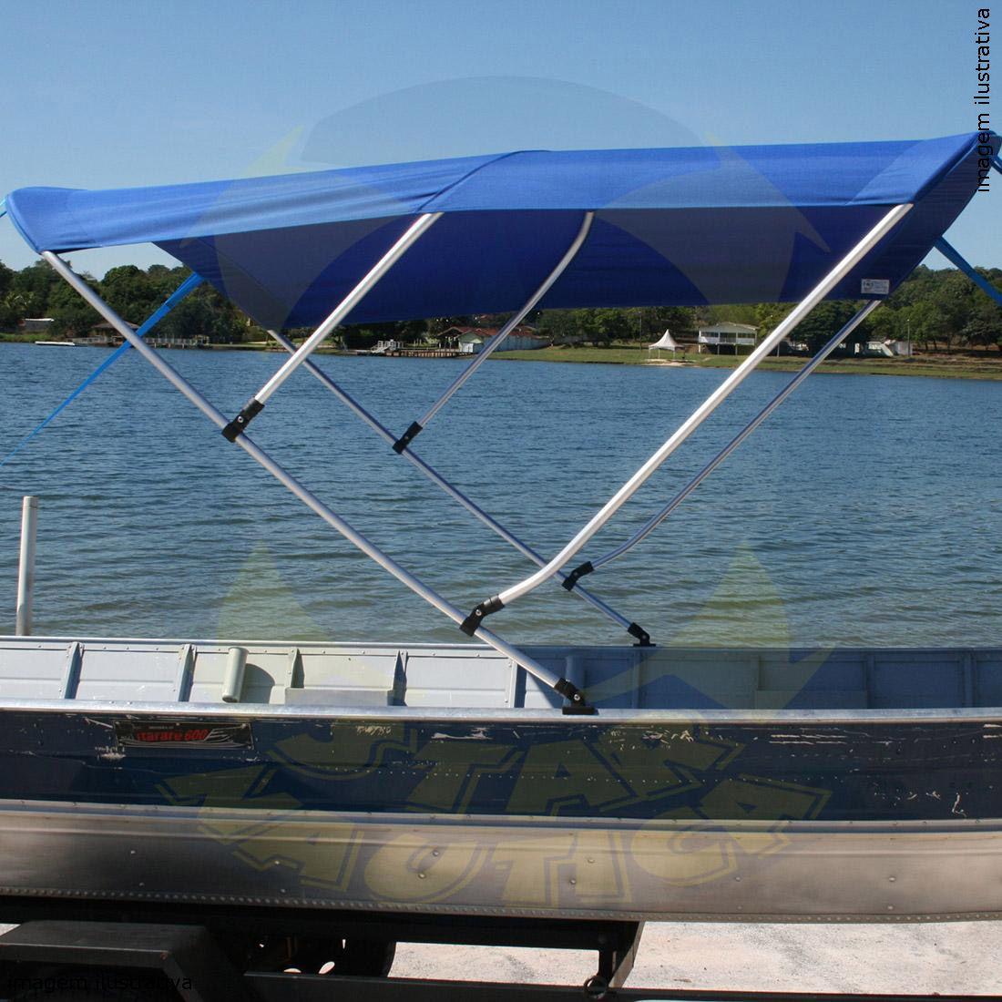 Capota Toldo Barco Big Fish 5016 Poliéster 3 Arcos Tubo 7/8