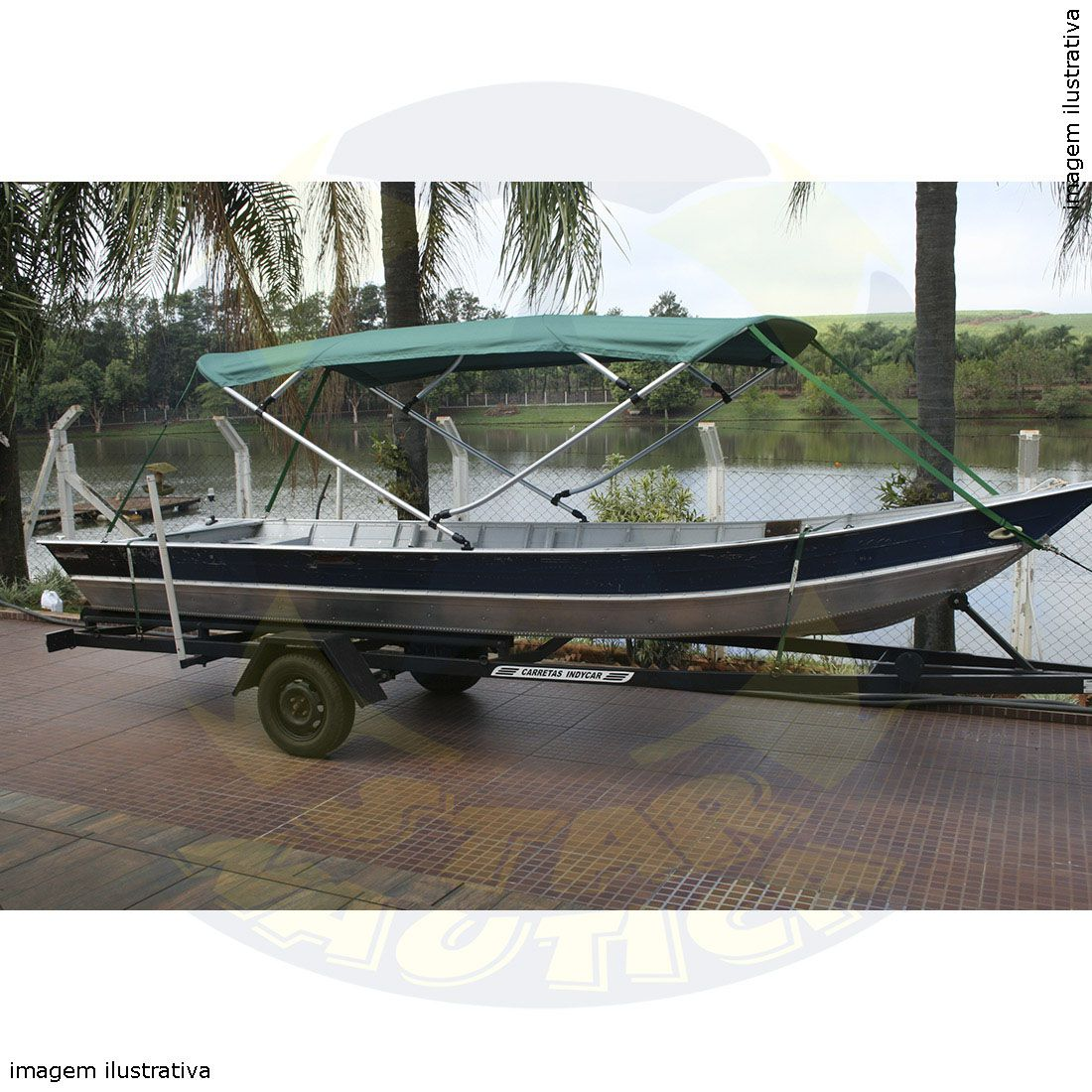 Capota Toldo Barco Big Fish 5016 Poliéster 4 Arcos Tubo 7/8