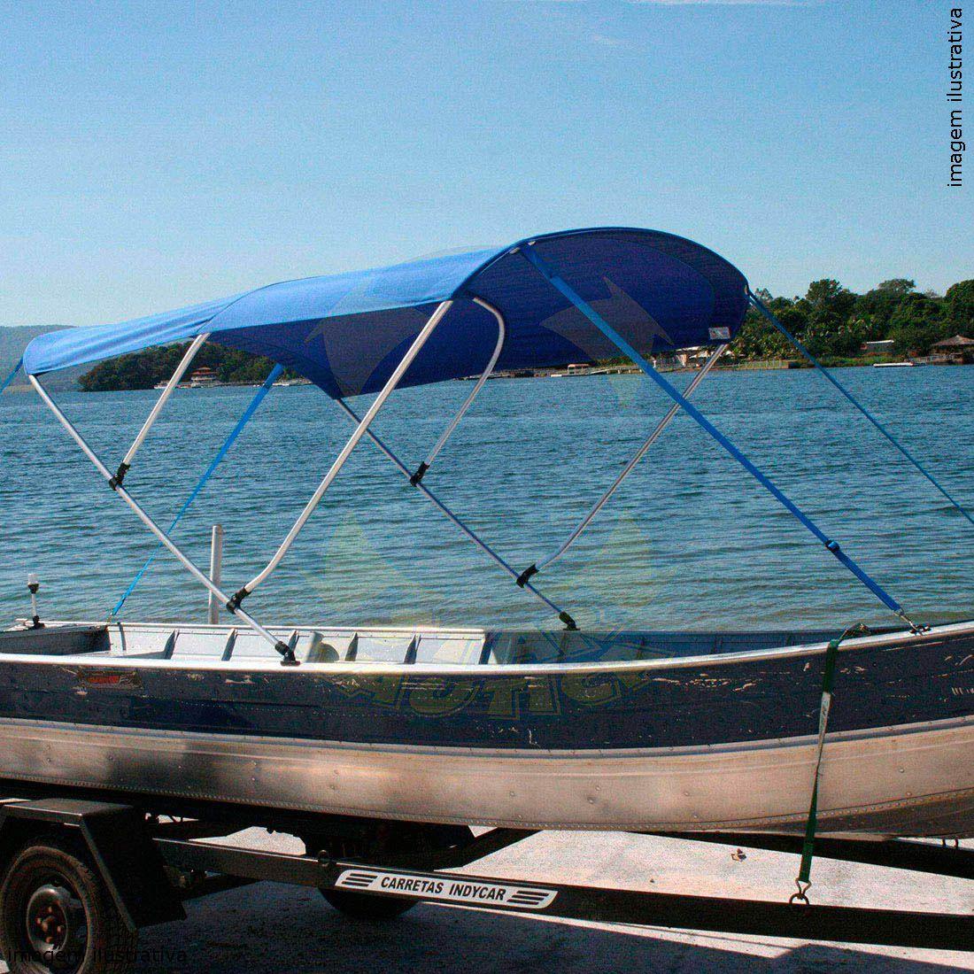 Capota Toldo Barco Calaça Flash Bass 500 Poliéster 3 Arcos Tubo 1 1/4
