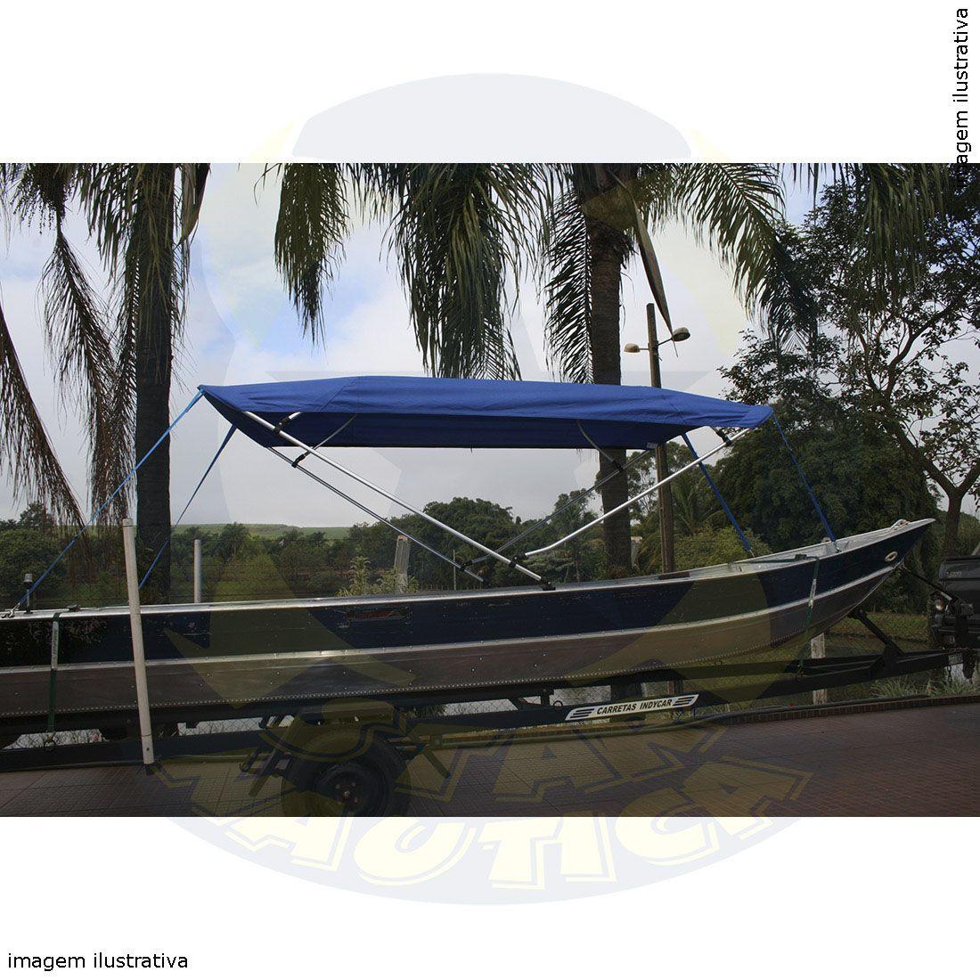 Capota Toldo Barco Calaça Flash Bass 500 Poliéster 4 Arcos Tubo 7/8