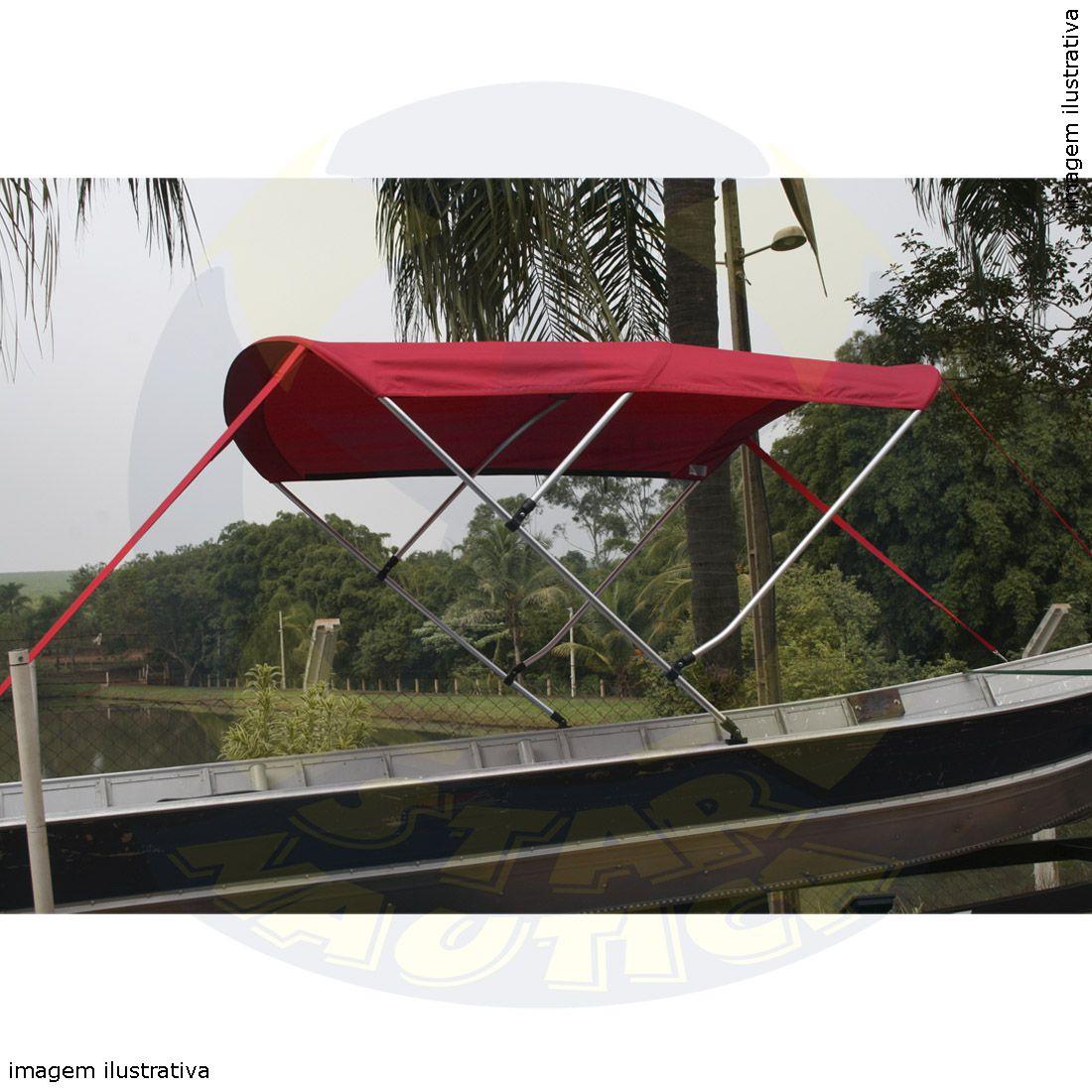 Capota Toldo Barco Calaça Flash Bass 500 Vinílica 3 Arcos Tubo 1 1/4