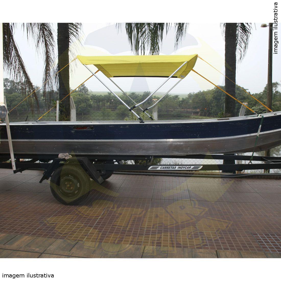 Capota Toldo Barco Karib 500 Vinílica 2 Arcos Tubo 7/8