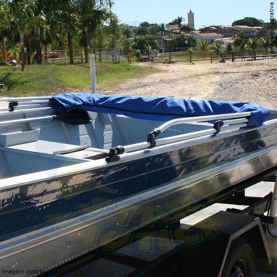 Capota Toldo Barco Karib 500 Vinílica 3 Arcos Tubo 7/8
