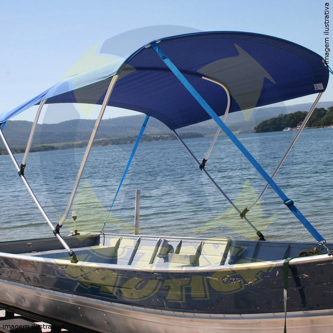 Capota Toldo Barco Karib 600 Poliéster 3 Arcos Tubo 1 1/4