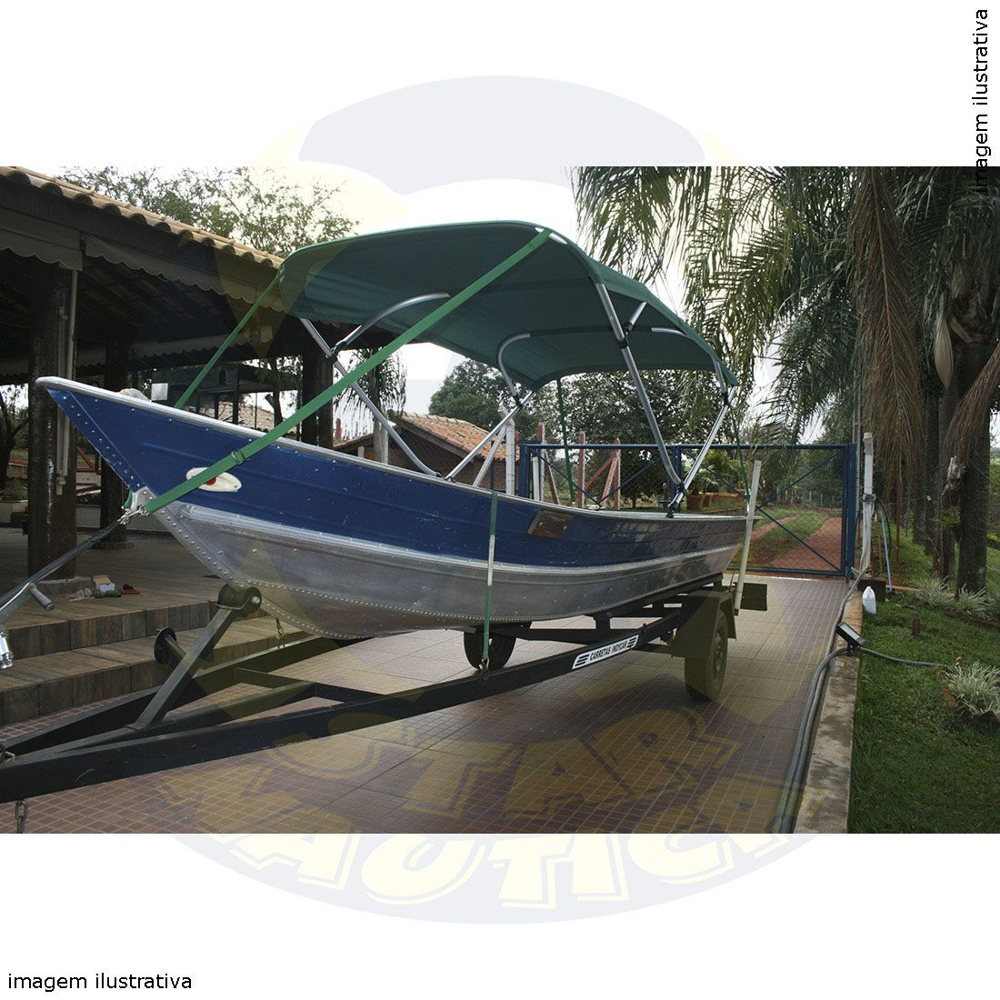 Capota Toldo Barco Karib 600 Vinílica 4 Arcos Tubo 7/8