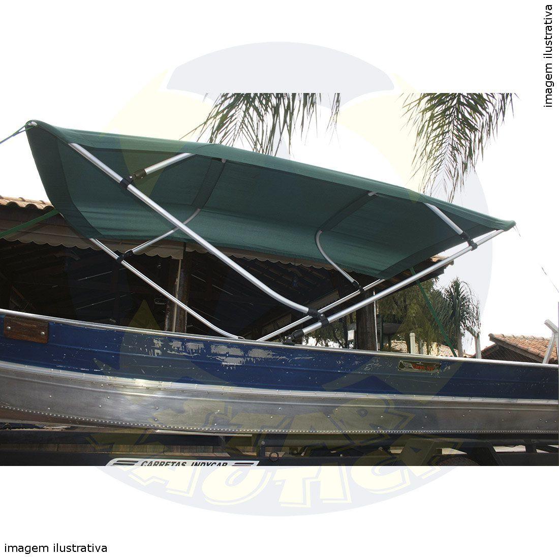 Capota Toldo Barco Marfim 500 Vinílica 4 Arcos Tubo 1 1/4