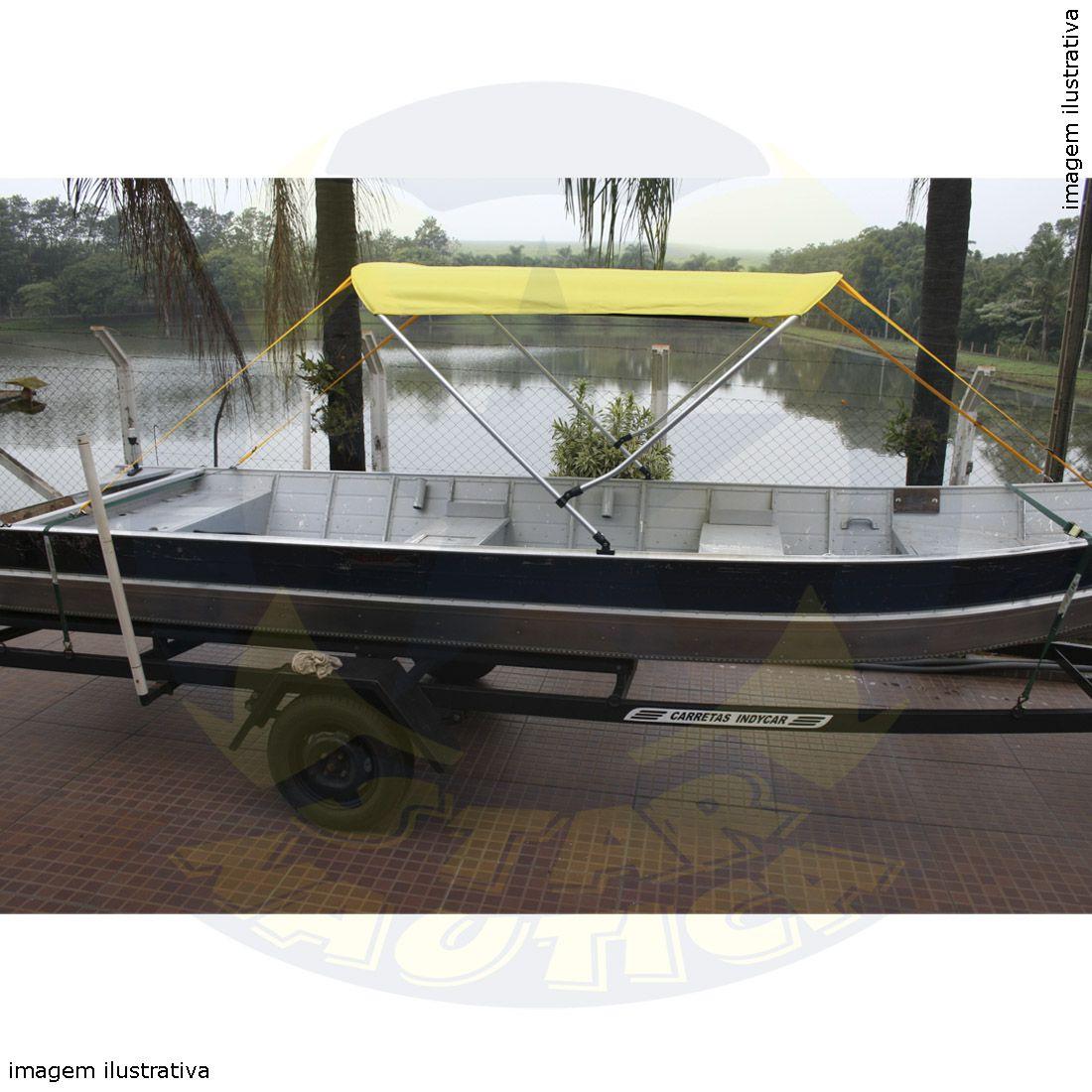 Capota Toldo Barco Marfim 600 Vinílica 2 Arcos Tubo 7/8