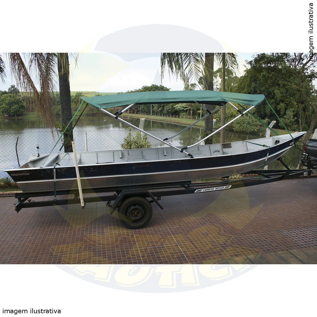 Capota Toldo Barco Marujo 600 Vinílica 4 Arcos Tubo 1 1/4