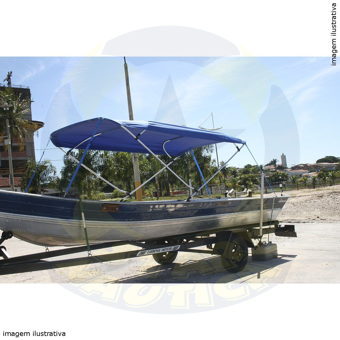 Capota Toldo Barco Squalus 600 Poliéster 4 Arcos Tubo 7/8