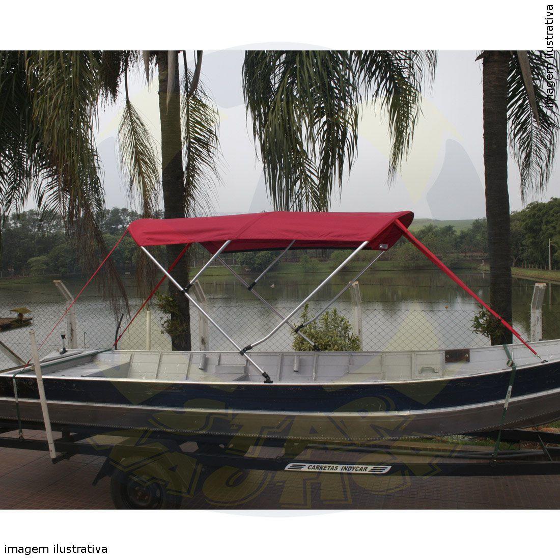 Capota Toldo Barco Tupi 600 Vinílica 3 Arcos Tubo 1 1/4